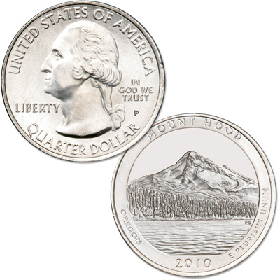 Image for 2010-P Mount Hood National Forest Quarter from Littleton Coin Company
