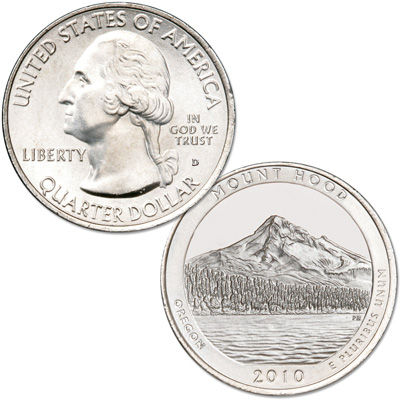 Image for 2010-D Mount Hood National Forest Quarter from Littleton Coin Company