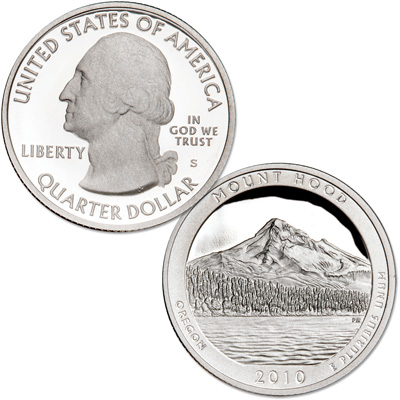 Image for 2010-S Mount Hood National Park Quarter from Littleton Coin Company