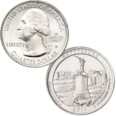 Image for 2011-P Gettysburg National Park Quarter from Littleton Coin Company