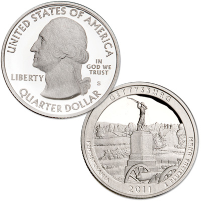 Image for 2011-S 90% Silver Gettysburg National Military Park from Littleton Coin Company