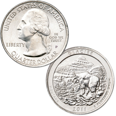 Image for 2011-P Glacier National Park Quarter from Littleton Coin Company