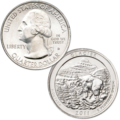 Image for 2011-D Glacier National Park Quarter from Littleton Coin Company
