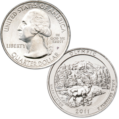 Image for 2011-P Olympic National Park Quarter from Littleton Coin Company