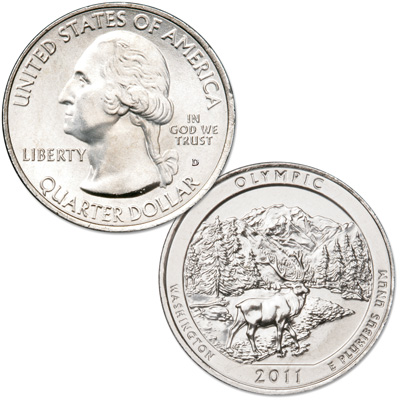 Image for 2011-D Olympic National Park Quarter from Littleton Coin Company