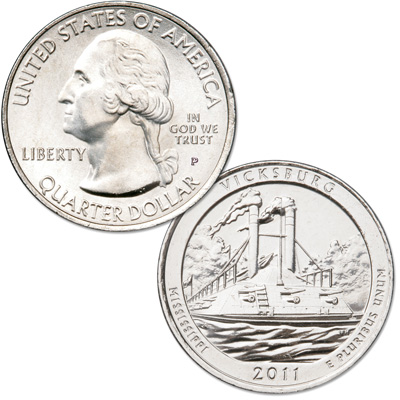 Image for 2011-P Vicksburg National Park Quarter from Littleton Coin Company