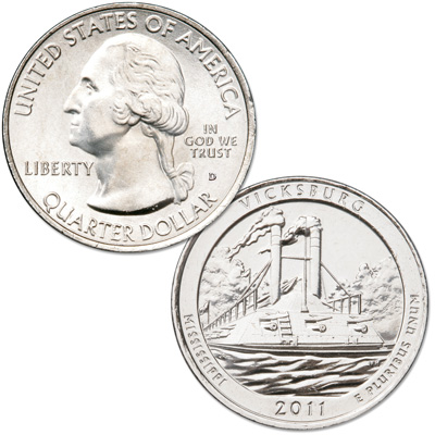 Image for 2011-D Vicksburg National Park Quarter from Littleton Coin Company