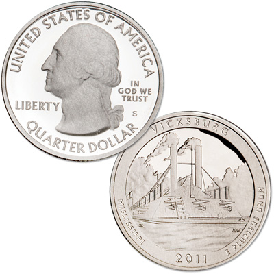 Image for 2011-S 90% Silver Vicksburg National Military Park Quarter from Littleton Coin Company