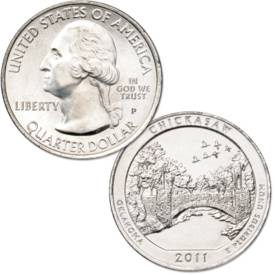 Image for 2011-P Chickasaw National Park Quarter from Littleton Coin Company