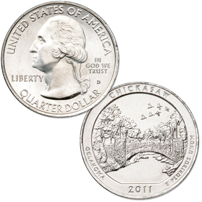 Image for 2011-D Chickasaw National Park Quarter from Littleton Coin Company