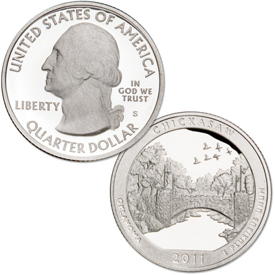 Image for 2011-S 90% Silver Chickasaw National Recreation Area Quarter from Littleton Coin Company