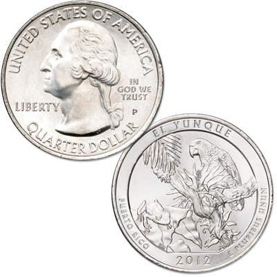 Image for 2012-P El Yunque National Forest Quarter from Littleton Coin Company