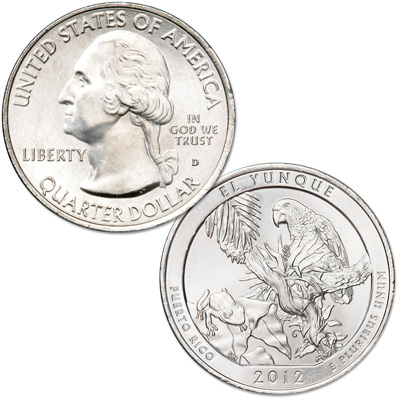 Image for 2012-D El Yunque National Forest Quarter from Littleton Coin Company