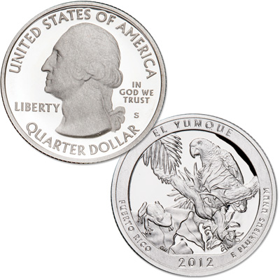 Image for 2012-S 90% Silver El Yunque National Forest Quarter from Littleton Coin Company