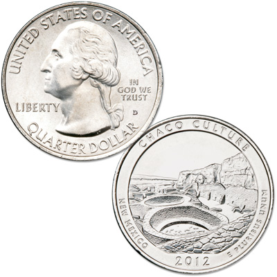 Image for 2012-D Chaco Culture National Historical Park Quarter from Littleton Coin Company