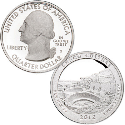 Image for 2012-S Chaco Culture National Historical Park Quarter from Littleton Coin Company
