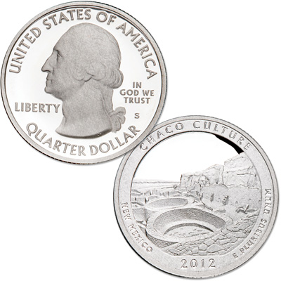 Image for 2012-S 90% Silver Chaco Culture National Historical Park Quarter from Littleton Coin Company