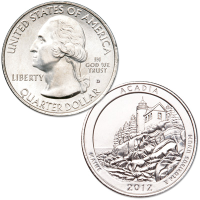 Image for 2012-D Acadia National Park Quarter from Littleton Coin Company