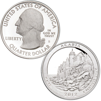 Image for 2012-S Acadia National Park Quarter from Littleton Coin Company