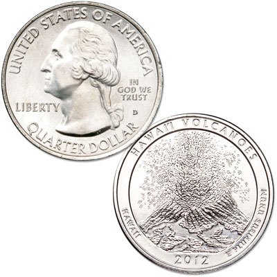Image for 2012-D Hawai'i Volcanoes National Park Quarter from Littleton Coin Company