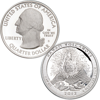 Image for 2012-S Hawai'i Volcanoes National Park Quarter from Littleton Coin Company