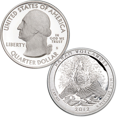 Image for 2012-S 90% Silver Hawai'i Volcanoes National Park Quarter from Littleton Coin Company