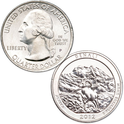 Image for 2012-P Denali National Park & Preserve Quarter from Littleton Coin Company