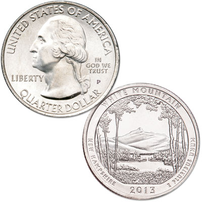 Image for 2013-P White Mountain National Forest Quarter from Littleton Coin Company