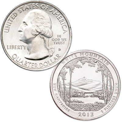 Image for 2013-D White Mountain National Forest Quarter from Littleton Coin Company
