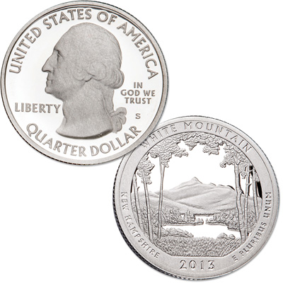 Image for 2013-S 90% Silver White Mountain National Forest Quarter from Littleton Coin Company
