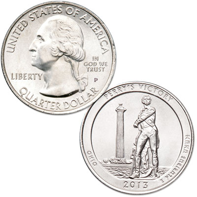 Image for 2013-P Perry's Victory & International Peace Memorial Quarter from Littleton Coin Company