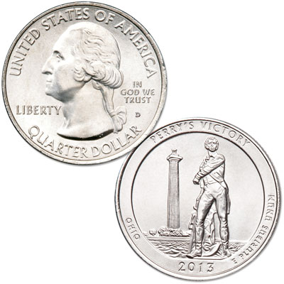 Image for 2013-D Perry's Victory & International Peace Memorial Quarter from Littleton Coin Company