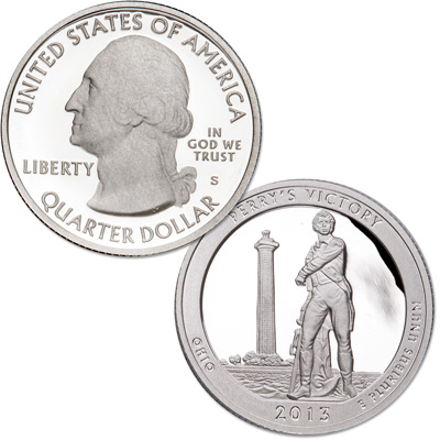 Image for 2013-S 90% Silver Perry's Victory and International Peace Memorial Quarter from Littleton Coin Company
