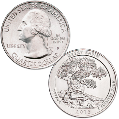 Image for 2013-P Great Basin National Park Quarter from Littleton Coin Company