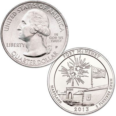 Image for 2013-P Fort McHenry National Monument and Historic Shrine Quarter from Littleton Coin Company