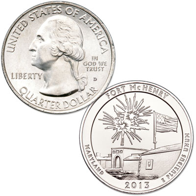 Image for 2013-D Fort McHenry National Monument and Historic Shrine Quarter from Littleton Coin Company