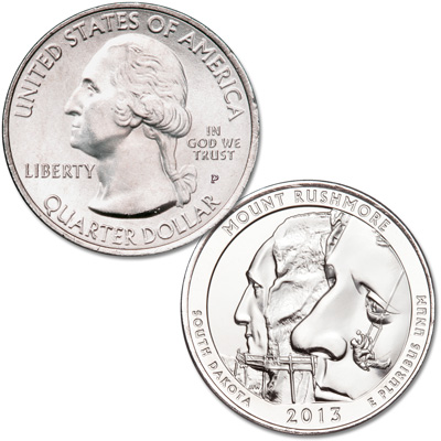 Image for 2013-P Mount Rushmore National Memorial Quarter from Littleton Coin Company