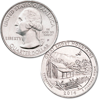Image for 2014-P Great Smoky Mountains National Park Quarter from Littleton Coin Company