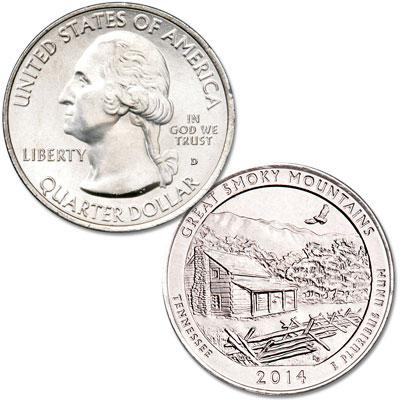 Image for 2014-D Great Smoky Mountains National Park Quarter from Littleton Coin Company