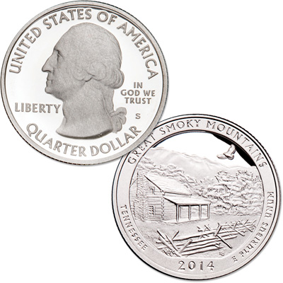 Image for 2014-S Great Smoky Mountains National Park Quarter from Littleton Coin Company