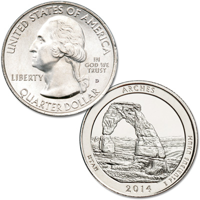 Image for 2014-D Arches National Park Quarter from Littleton Coin Company