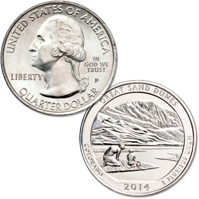 Image for 2014-P Great Sand Dunes National Park Quarter from Littleton Coin Company