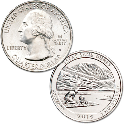 Image for 2014-D Great Sand Dunes National Park Quarter from Littleton Coin Company