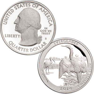 Image for 2014-S 90% Silver Everglades National Park Quarter from Littleton Coin Company