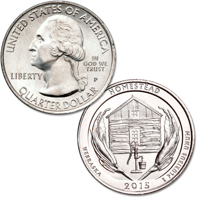 Image for 2015-P Homestead National Monument of America Quarter from Littleton Coin Company