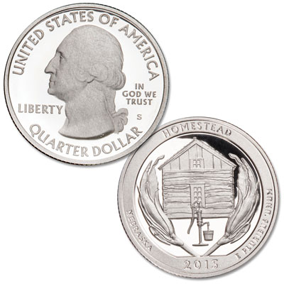 Image for 2015-S 90% Silver Homestead National Monument of America Quarter from Littleton Coin Company