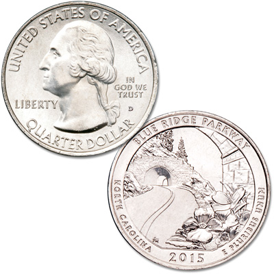 Image for 2015-D Blue Ridge Parkway Quarter from Littleton Coin Company