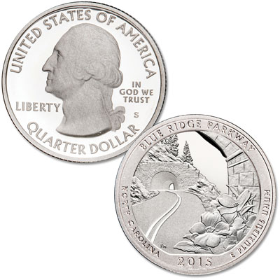 Image for 2015-S Blue Ridge Parkway Quarter from Littleton Coin Company
