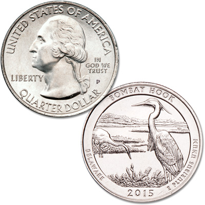 Image for 2015-P Bombay Hook National Wildlife Refuge Quarter from Littleton Coin Company