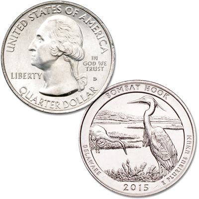 Image for 2015-D Bombay Hook National Wildlife Refuge Quarter from Littleton Coin Company